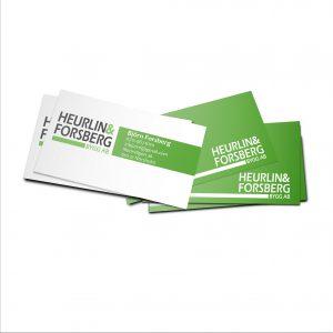 Heurlin & Forsberg bygg ab, Grafisk design Jannica Figur