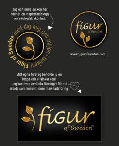 Figur of Sweden logo - Design Jannica Figur