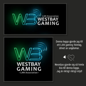 Westbay gaming logo - Design Jannica Figur