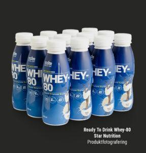 Produktfotografering Whey Ready to Drink Jannica Figur