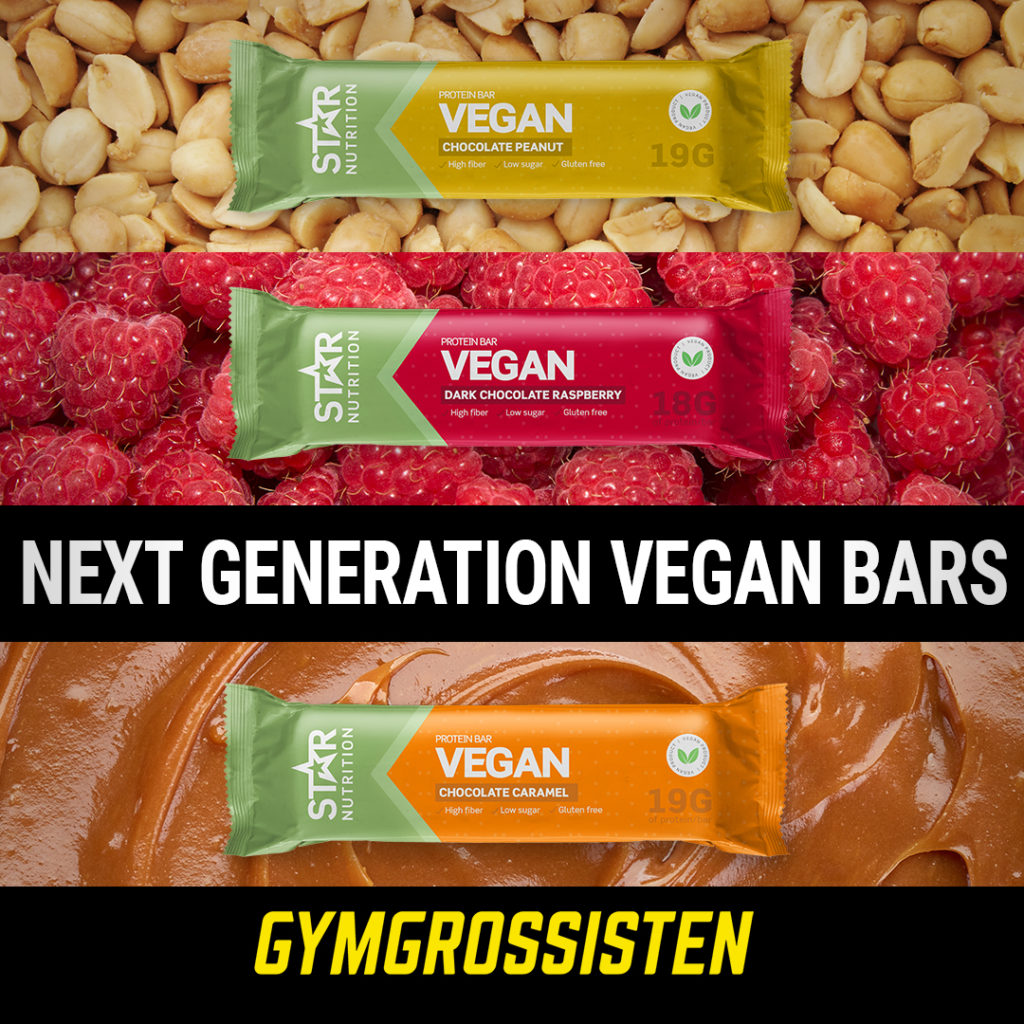 Star Nutrition nya vegan bars. Design Jannica Figur